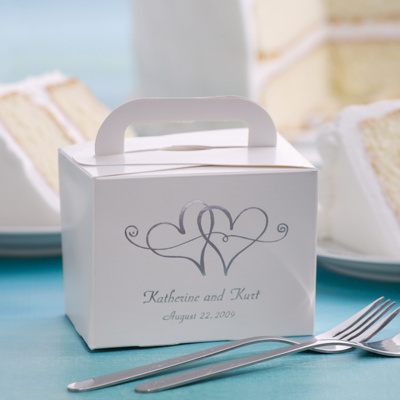 Wedding Cake Plate on Wedding Cake Boxes For Guests   Take Home Wedding Cake Box