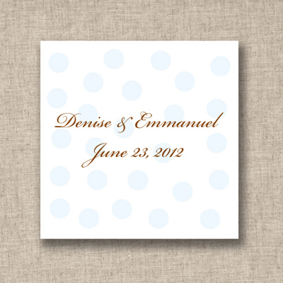 Personalized Wedding Favor Tags on Polka Dots Favor Tags   Wedding Favor Tags
