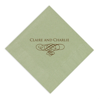 Wedding Flourish Napkin