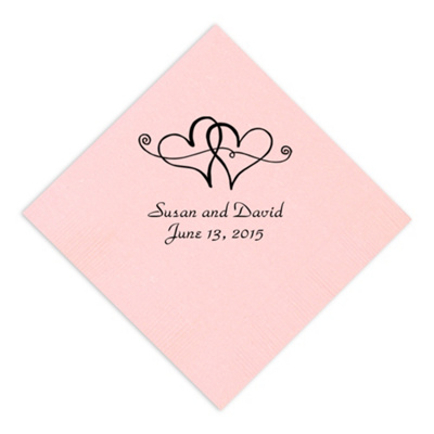 Reception Accessories Wedding Decorations Twin Hearts Napkin
