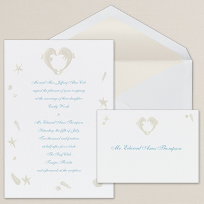 Dolphin Duo Wedding Invitation