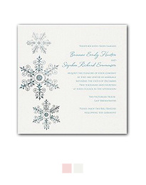 Sparkling Snowflake Wedding Invitation