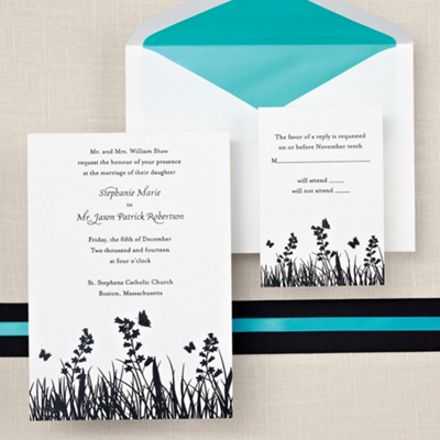Butterfly Wedding Invitation Cards on Butterfly Wedding Invitation   Butterfly Kisses Wedding Invitations