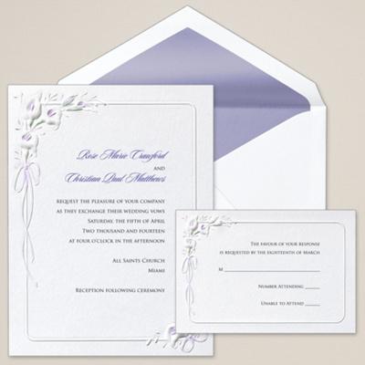 Calla Lilies Wedding Invitation