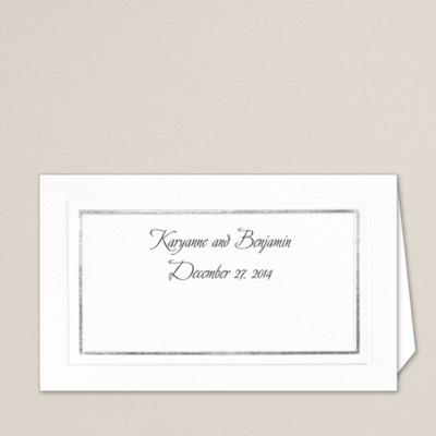 Silver Border Wedding Place Card You May Also Like You May Also Like