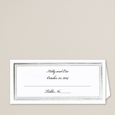 Back To Shopping Home Framed in Silver Wedding Place Card