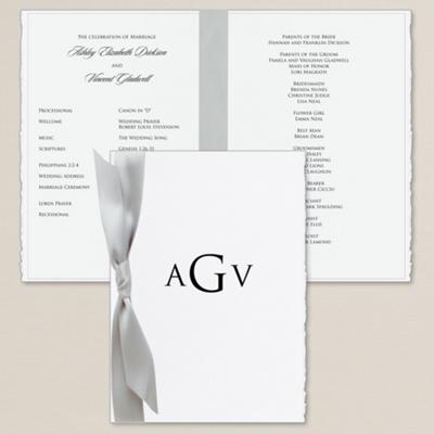Wedding Program on Delicate Deckle Wedding Program   Wedding Programs