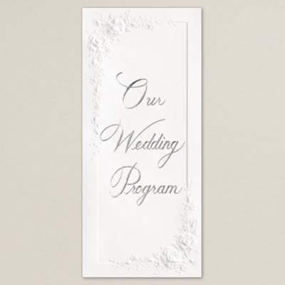Wedding Programs Wording on Cascading Roses Wedding Program   Wedding Programs
