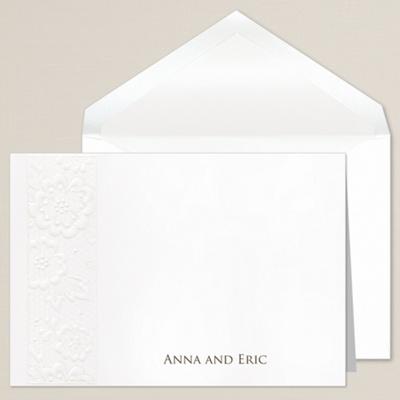 Vintage Lace Wedding Invitation 12395