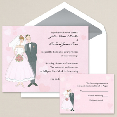 Bride and Groom Wedding Favor Tins