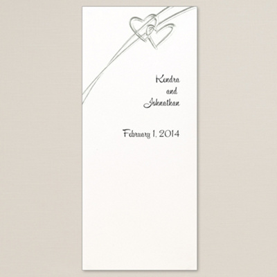 Wedding Program on Soaring Hearts Wedding Programs In Silver   Hearts Wedding Programs