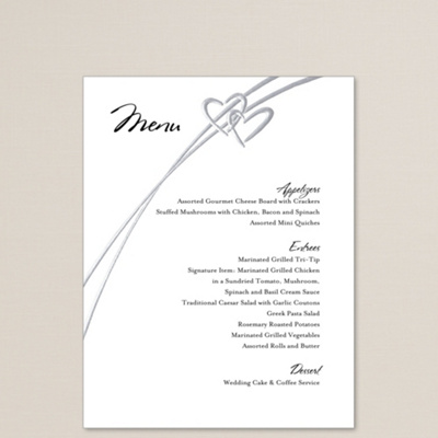 Soaring Hearts Wedding Menu You May Also Like You May Also Like
