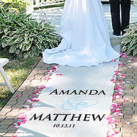 Simple Flourish Accented Personalized Aisle Runner