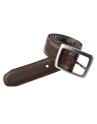 Boys Brown/Black Reversible Leather Belt by Gymboree