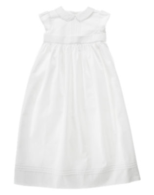 Baby White Christening Gown by Gymboree