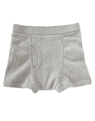 Boys Heather Grey Grey Boxer Brief by Gymboree
