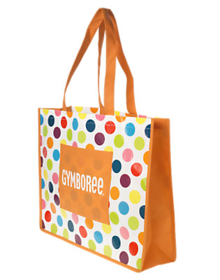 Girls White/Orange Gymboree Reusable Tote Bag by Gymboree
