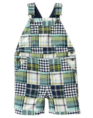 White Patchwork Shortall by Gymboree