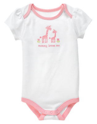Baby White Mommy Loves Me Bodysuit by Gymboree
