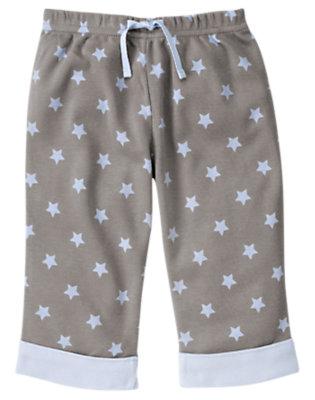Cloud Grey Star Cuffed Pant by Gymboree