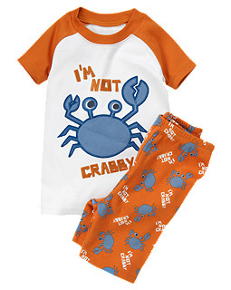 I'm Not Crabby Shortie Two-Piece Gymmies<sup>™</sup>