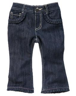 Ruffle Hem Bootcut Jean