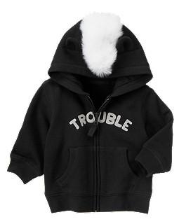 Trouble Skunk Fleece Hoodie