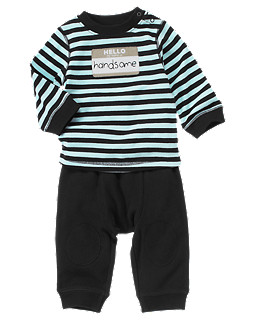 Handsome Stripe Two-Piece Set