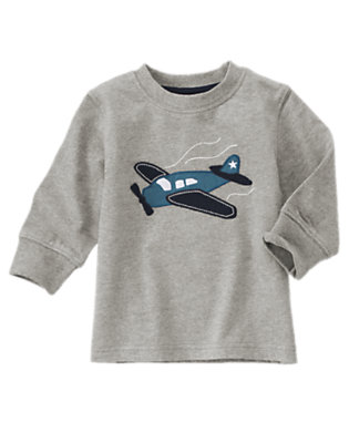 Heather Grey Airplane Long Sleeve Tee by Gymboree