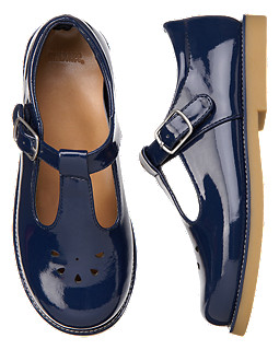 Eyelet Patent T-Strap Shoe