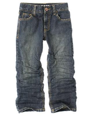 Boys Dark Wash Denim Classic Jean by Gymboree