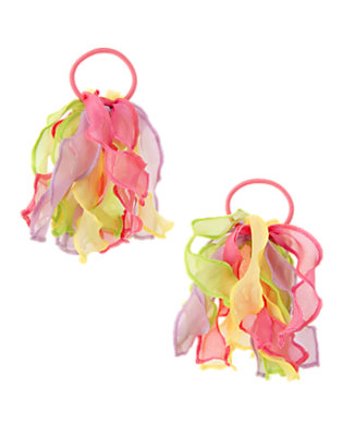 Girls Cupcake Pink Organza Pony Holder Two-Pack by Gymboree