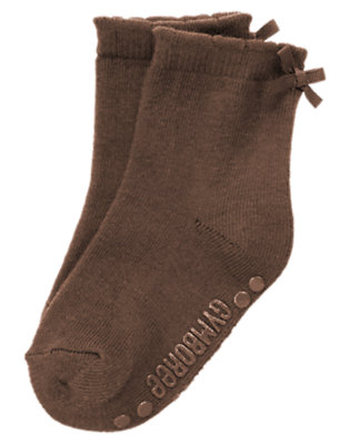 Chocolate Brown Bow Sock by Gymboree