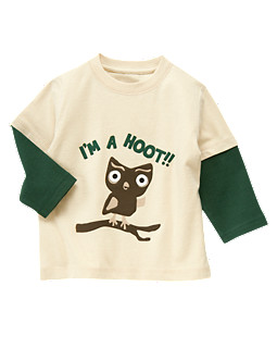Owl Double Sleeve Tee