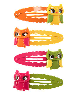 Owl Snap Clip Four-Pack