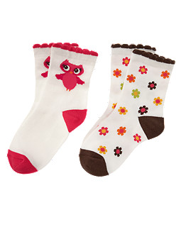 Owl Flower Sock Two-Pack