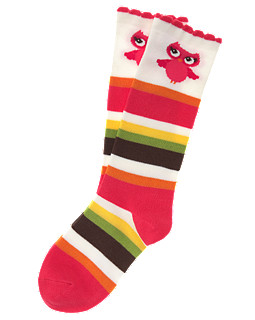 Owl Stripe Knee Sock