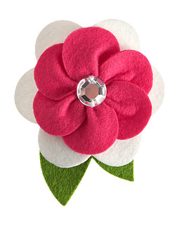 Gem Flower Corsage Hair Clip