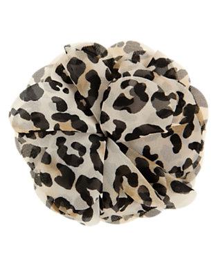 Tan Leopard Leopard Flower Corsage Hair Clip by Gymboree