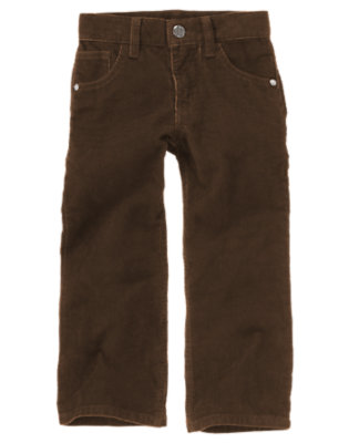 Boys Chocolate Brown Corduroy Pant by Gymboree