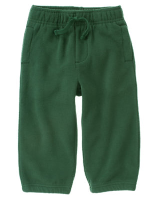 Pine Green Microfleece Active Pant by Gymboree
