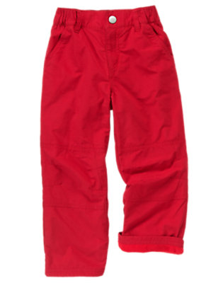 Dark Red Microfleece Lined Active Pant by Gymboree
