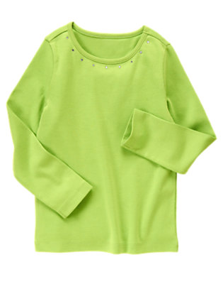 Lime Green Gem Top by Gymboree