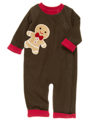 Chocolate Brown Gingerbread Boy One-Piece by Gymboree