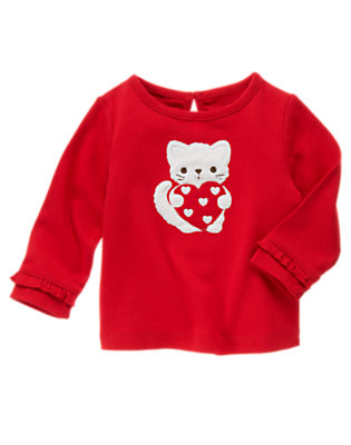 Cupid Red Kitty Heart Tee by Gymboree