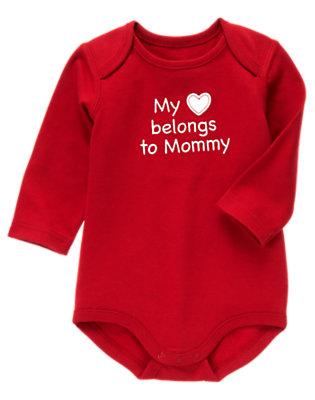 Cupid Red My Heart Belongs To Mommy Bodysuit by Gymboree