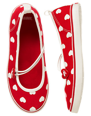 Girls Cupid Red Heart Canvas Heart Sneaker by Gymboree
