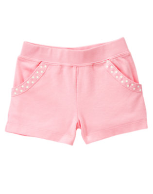 Pink Gymboree Outlet Polka Dot Ribbon Short by Gymboree