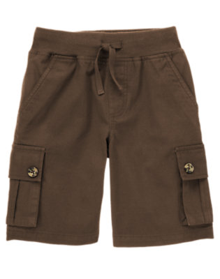 Chocolate Brown Pull-On Canvas Cargo Short by Gymboree