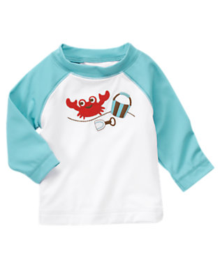 Bucket Blue Crab Rash Guard by Gymboree
